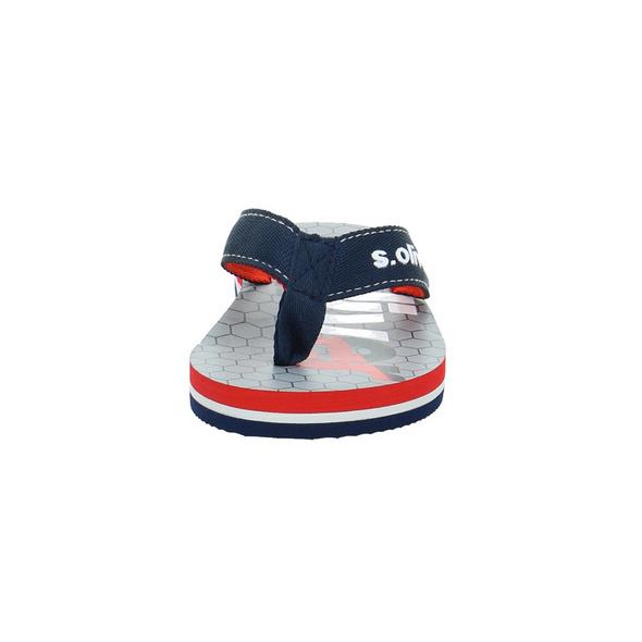 S.Oliver Kinder 47100-805 Blaue Textil Pantolette