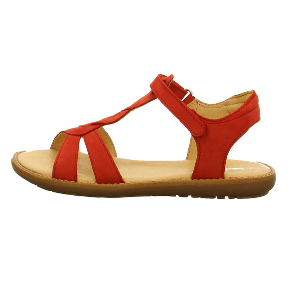 Sabalin Kinder 53-2765 Rote Nubukleder Sandale