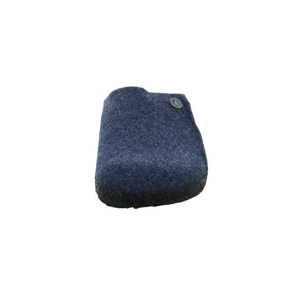 Birkenstock Damen Zermatt Rivet blauer Filz Pantoffel