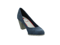 S.Oliver Damen 22404-802 Blauer Synthetik Pumps