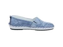 Krisbut Damen 2411-3-1 Blaue Glattleder Slipper