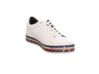 Tommy Hilfiger Damen Sequin Foxing Dress Weißer Leder/Synthetik Sneaker