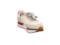 S.Oliver Damen 23651-100 Weißer Materialkombinerter Sneaker