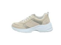 Rieker Damen 59426-60 Beigefarbene Leder/Synthetik Sneaker
