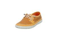 Gemini Damen 395900-02-060 Orangefarbener Glattleder Schnürschuh mit Lochmuster