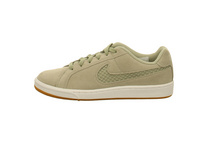 Nike Damen WMS Court Royale Premium Grüne Veloursleder Sneaker
