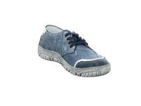 Krisbut Damen 2451-1 Blauer Glattleder Sneaker