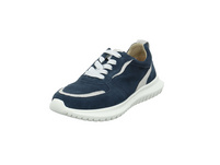 Caprice Damen 23751-880 Blauer Glatt-/Veloursleder Sneaker