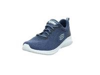 Skechers Damen Ultra Flex Simply Free Blauer Textil Sneaker