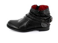 Gemini Damen 033100-02-009 Schwarzer Leder/Textil Boot