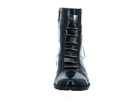 Eksbut Damen 65-3828/L15P Schwarze Lackleder Stiefelette