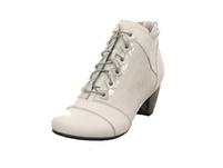 Simen Damen 3731A Weiße Glattleder Stiefelette