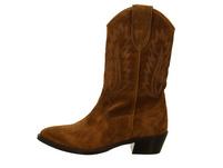 Alpe Damen Rose Braune Velourleder Cowboy Stiefel
