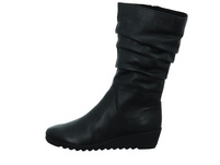 Caprice Damen 25407-022 Schwarzer Glattleder Stiefel