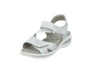 Ara Damen Korfu Weiß-/Silberfarbene Leder Sandalette