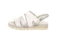 Caprice Damen 28108-943 Silberne Glattleder Sandale