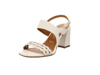 Tamaris Damen 28006-100 Weiße Glattleder Sandalette