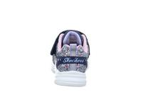 Skechers Kinder Glimmer Kicks Glitte Blaue Synthetik Sneaker
