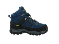 CMP Kinder Kids Rigel Mid Trekking Shoes WP Blauer Veloursleder Boot