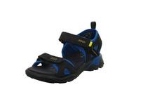 Ecco Kinder Biom Raft Blaue Veloursleder Sandale