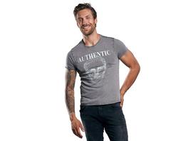 Rundhals T-Shirt mit auffälligem Statement-Print