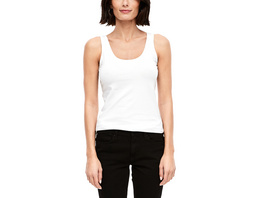 Unifarbenes Basic Top - Top