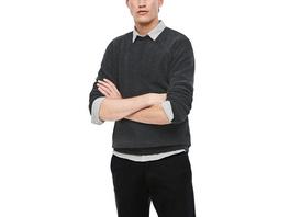 Strickpulli mit Samtstruktur - Pullover