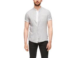 Regular: Hemd aus Leinenmix - Kurzarmhemd