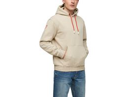 Hoodie mit Details in Nylon-Optik - Sweatshirt