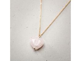 Kette - Big Rosé Heart