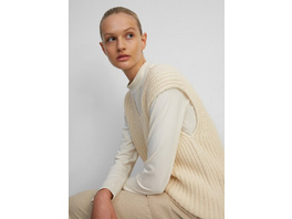 Ärmelloser V-Neck-Pullover