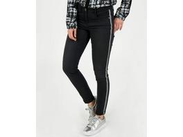 Hose mit Seitenstreifen in Schwarz