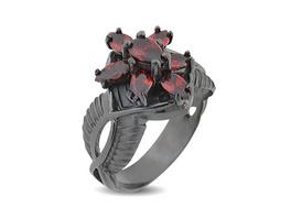 Arwens Abendstern Ring rot Dark Years Collection
