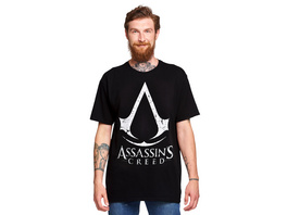 Assassins Creed - Cracked Logo T-Shirt schwarz