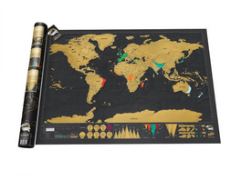 Scratch Map Deluxe Edition Rubbel-Weltkarte
