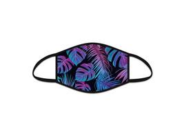 Mund-Nasen-Maske Dschungel neon