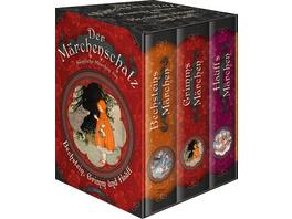 Der Märchenschatz - Sämtliche Märchen von Bechstein, Grimm und Hauff in drei Bänden (im Schuber)
