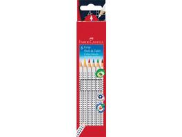 Faber-Castell Buntstifte GRIP Heft & Tafel 6er Set