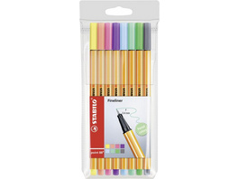 STABILO Fineliner point 88 Pastell, 8er Set