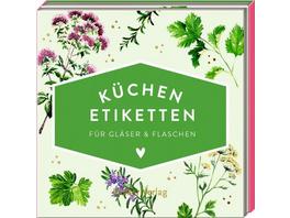 Küchen-Etiketten für Gläser & Flaschen / Kräuter