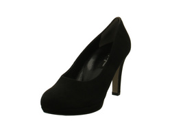 Paul Green Damen 2634-016 Schwarze Veloursleder Pumps