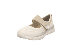 Jana Damen 24602-197 Weißer Leder/Synthetik/Textil Ballerina
