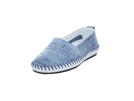 Krisbut Damen 2411-3-1 Blaue Glattleder Slipper