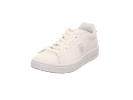 K-Swiss Damen Court Shield Woman´s Low Weißer Glattleder Sneaker