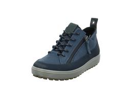 Ecco Damen Soft 7 Tred W Blauer Leder Sneaker