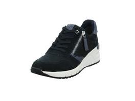 Tamaris Damen 230702-890 Blauer Materialkombinierter Sneaker