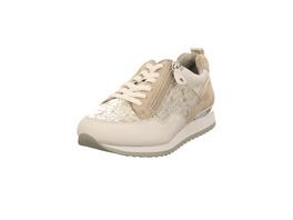 Caprice Damen 23600-921 Gold/Silberfarbener Materialkombinierter Sneaker