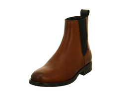 Tommy Hilfiger Damen Pin Logo Braune Glattleder Chelsea Boots