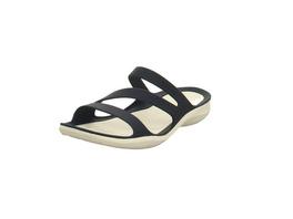 Crocs Damen Swiftwater Sandal W Blaue Synthetik Pantolette