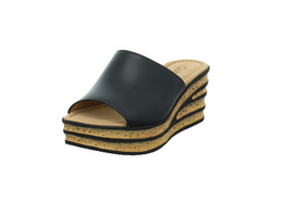 Gabor Damen 64-650-27 Schwarze Glattleder Pantolette mit Plateau
